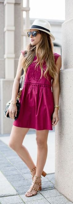 #summer #fashion / boho pink