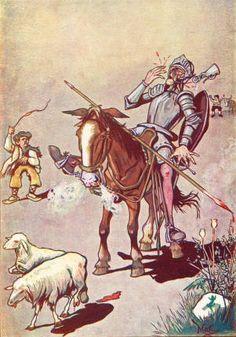 Don Quijote por M. Dom Quixote, Chivalry, Golden Age, Ephemera, Literature, Centenario, Painting, Film Posters, Abstract