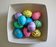 DIY Metallic Easter Eggs from The Quick Journey use PAAS egg dye and metallic pens to create beautiful designs.