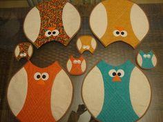 Jogo americano corujas  encomendas: www.pelavitrine.blospot.com