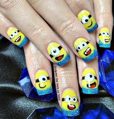 Day 225: Minion Nail Art - - NAILS Magazine