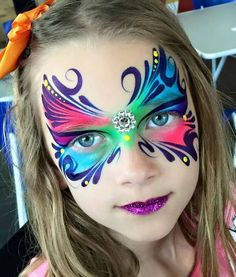 Face painting by Marcela Bustamante
