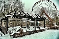 Spreepark in winter