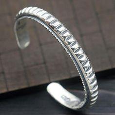 Men's Sterling Silver Notch Cuff Bracelet