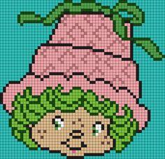 Lime Chiffon From Strawberry Shortcake (Square) Perler Bead Pattern / Bead Sprite