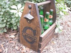 Laser Engraved Beer Tote Six Pack Carrier with by MadMikeBrewing