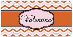 Personalized Monogrammed Chevron Pink Orange Car License Plate Auto Tag Top Craft Case http://www.amazon.com/dp/B00MJFK6IK/ref=cm_sw_r_pi_dp_hCotub0ZN238A