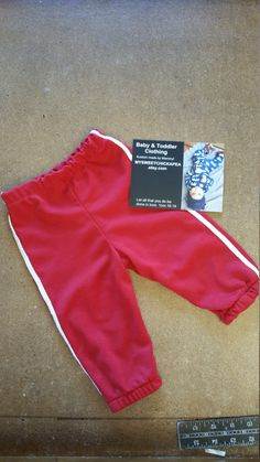 Boys Baseball Pants Red 6-9 9-12 months/Ready by MYSWEETCHICKAPEA