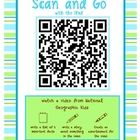 Scan and Go! iPad activity for kids! print, laminate and set up your iPads, iPods, or other tablets with a free QSR scanner!  Perfect for a center, earlier finisher, or reward activity!  Even makes great homework! $