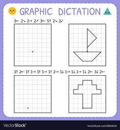 Find Graphic Dictation Kindergarten Educational Game Kids stock images in HD and millions of other royalty-free stock photos, illustrations and vectors in the Shutterstock collection. Educational Games For Kids, Educational Technology, Preschool Printables, Kindergarten Worksheets, Coding For Kids, Classroom Language, Education Quotes For Teachers, Home Learning, Tracing Worksheets