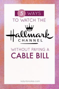 Been looking for a way to Watch the Hallmark Channel online, or find a Hallmark Channel streaming service before cutting your cable? Hallmark Holiday Movies, Hallmark Holidays, Hallmark Christmas, Ways To Save Money, Money Saving Tips, Tv Without Cable, Tv Options, Cable Options, Cable Tv Alternatives