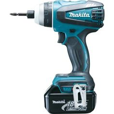 Tournevis quadruple sans fil Makita 18 V / Ah Cordless Power Drill, Cordless Drill Reviews, Cordless Tools, Electrical Tools, Impact Driver, Drill Driver, Home Repairs, Tool Design, Industrial Design