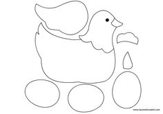 Sagome Pasqua   Gallina con uova in pasqua