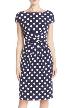 Free shipping and returns on Eliza J Polka Dot Jersey Sheath Dress at Nordstrom.com. A classically femme sheath dress transitions seamlessly from the workweek to weekend in pretty polka dots and a cool twisted waistline that defines your figure.