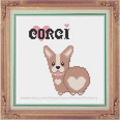 Corgi Cross Stitch Pattern Downloadable by SpaceNonasStitchery