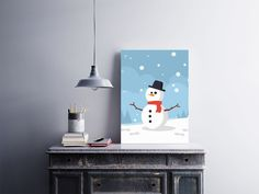 """Placa decorativa """"Boneco de Neve""""  Temos quadros com moldura e vidro protetor e placas decorativas em MDF.  Visite nossa loja e conheça nossos diversos modelos.  Loja virtual: www.arteemposter.com.br  Facebook: fb.com/arteemposter  Instagram: instagram.com/rogergon1975  #placa #adesivo #poster #quadro #vidro #parede #moldura"""
