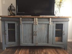 ideas for farmhouse chic tv stand entertainment center Leisure i. ideas for farmhouse chic tv stand entertainment center Leisure is a questionnaire o Farmhouse Tv Stand, Farmhouse Chic, Farmhouse Ideas, Farmhouse Windows, French Farmhouse, Craftsman Farmhouse, Shabby Chic Living Room, Living Room Tv, Reclaimed Wood Furniture
