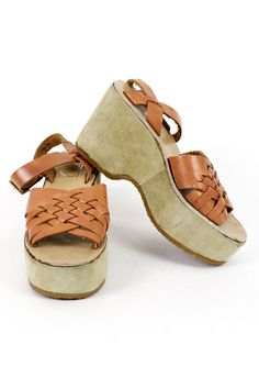 Woven Leather Platforms 7