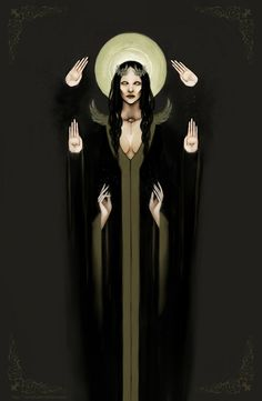 Binah ('Understanding') - Hebrew. The Supernal Mother, third Sephirah of the Cabalistic Tree of Life. She takes the raw directionless energy of Chokmah, the Supernal Father (the second Sephira), and gives it form and manifestation; she is thus both the Bright Mother, Aima (nourishing) and the Dark Mother, Ama (constricting). ----Lady of Eyes