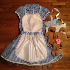 Goldilocks and the Three Bears costume for World Book Day. Hand made apron and b...  - http://halloweencostumesidea.info/goldilocks-and-the-three-bears-costume-for-world-book-day-hand-made-apron-and-b/