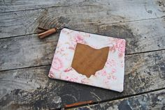 Recycled Leather Pink Floral Ohio Mini by aperfectmessvintage