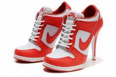 Hot Shoes For Women | Newest Nike Jordan Heels Dunk SB Women Shoes Hot Sale Red White Nike ...