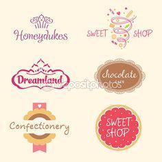 Conjunto de logotipos. Doces — Ilustração de Stock #68970195