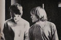 Mick Jagger and Brian Jones - Melbourne 1964 Brian Jones Rolling Stones, Rollin Stones, The Mick, Moves Like Jagger, Charlie Watts, Robert Plant, Keith Richards, Ringo Starr, Mick Jagger
