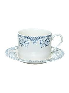 Kew blue teacup and saucer