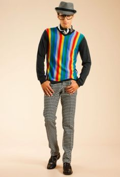 I would so totally rock this outfit... Trina Turk Houndstooth 5 Pocket Jean