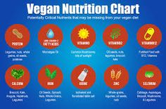 Vegan Nutrition Chart - Important Vitamins and Minerals