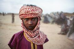 Boy in Red and White Scarf, The Sahel, Bamako, Mali, Africa  Steve McCurry  1988