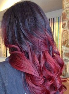 20 inch burgundy black ombre clip in human hair by Hair4daze: