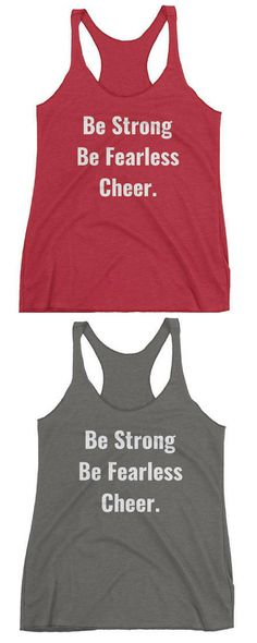 $25 Be Strong Be Fearless Cheer Women's Racerback Tank,tank top,tanks,cheer tanks, cheerleader,cheerleading,cheer,shirt, tshirt, gym tanks, tanks #cheerleading #ad Tank Tank, Racerback Tank, Tanks, Cheer Clothes, Cheer Outfits, Cheerleading Cheers, Cheer Shirts, Kids Sports, Team Building