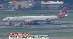Un avion cu 400 de oameni la bord a aterizat forțat pe aeroportul Gatwick din Londra