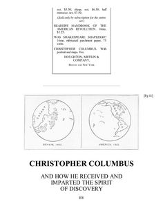 Christopher Columbus, by Justin Winsor, Free eBook by Chuck Thompson via slideshare