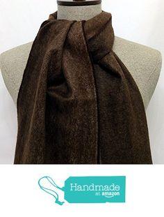Scarf brown, beige stripes wool - SC085 from Nazo Design https://www.amazon.com/dp/B01FPV6QVA/ref=hnd_sw_r_pi_dp_0iy6xb4ACVKD1 #handmadeatamazon #nazodesign