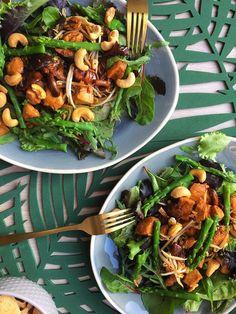 Kip Teriyaki Salade – Kip, Japans, salade, salad, maaltijdsalade, groene asperges, sla, cashewnoten