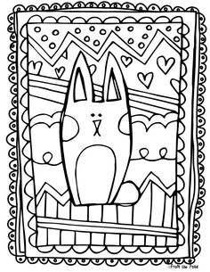 Scrappy Bunny Coloring Page FREE