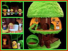 Fisher Price Tree House - One of the first toys I remember. one of my FAVORITE toys Ever! My Childhood Memories, Childhood Toys, Sweet Memories, Early Childhood, Retro Toys, Vintage Toys, 1980s Toys, Funny Vintage, Antique Toys