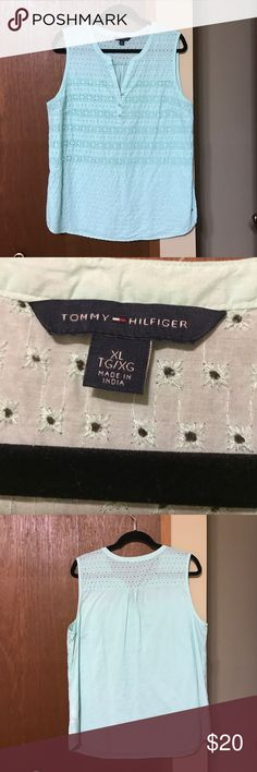 Tommy Hilfiger mint sleeveless cotton top! Tommy Hilfiger mint sleeveless cotton top! Tommy Hilfiger Tops Blouses