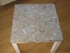 1000 images about meuble tapiss on pinterest brocante ikea table and manga - Meuble papier journal ...