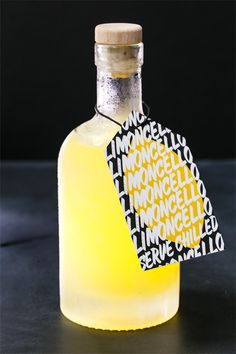 Homemade limoncello