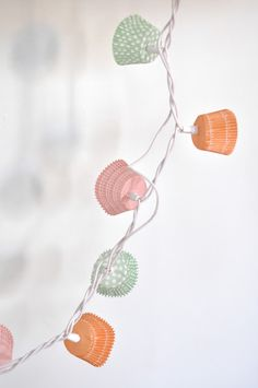 DIY cupcake fairy lights