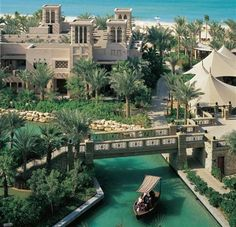 Madinat Jumeirah, Dubai. So over the top, but for some reason it reminds me of all those old Arabian nights, sword and sandal desert epic films where oases of magical  wonder appear out of vast expanses of sand.