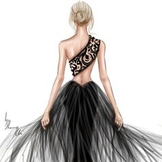Back Calligraphy ✒♥ #FashionIllustrations