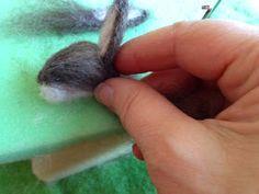 How to Needle felt a wool and alpaca bunny