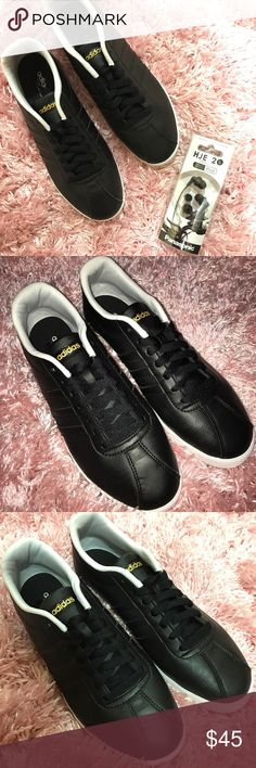 ADIDAS Neo Sport Shoes Black 8.5 In excellent condition. Worn once or twice. Clean, smoke-free home. 💗 Size 8.5. FREE GIFT - Headphones for the gym! adidas Shoes
