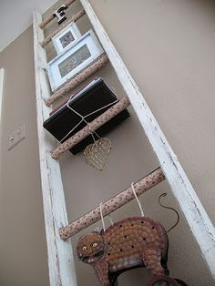 Shabby Chic Decoupage Ladder Tutorial