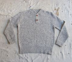 vintage 1980s heathered mushroom shawl collar by MouseTrapVintage, $46.00